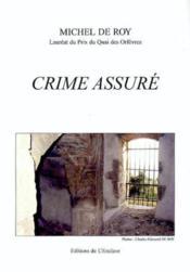 Crime assuré - Couverture - Format classique