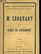 M. Croquant - Couverture - Format classique