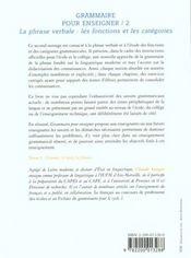 Grammaire Pour Enseigner T.2 - 4ème de couverture - Format classique