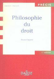Philosophie du droit - 1ere ed. (1re édition) - Intérieur - Format classique