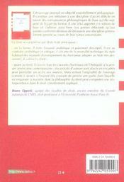Philosophie du droit - 1ere ed. (1re édition) - 4ème de couverture - Format classique