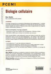 Biologie cellulaire (10e édition) - 4ème de couverture - Format classique