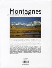 Montagnes, les grandes oeuvres de la terre - 4ème de couverture - Format classique