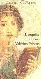 L'enquete de lucius valerius priscus - Intérieur - Format classique
