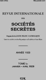 Riss Grise 1920 - Couverture - Format classique