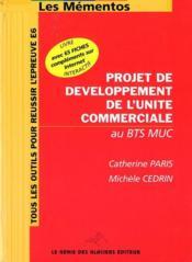 Projet de développement de l'unité commerciale au BTS - Couverture - Format classique