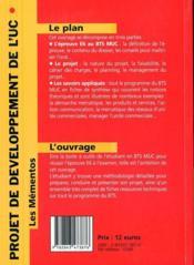 Projet de développement de l'unité commerciale au BTS - 4ème de couverture - Format classique