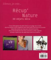 Récup' nature ; 30 objets déco - 4ème de couverture - Format classique