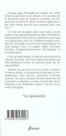 Lire Et Go?Ter L'Evangile - 4ème de couverture - Format classique