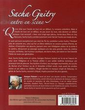 Sacha guitry entre en scène - 4ème de couverture - Format classique