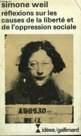 Reflexions Sur Les Causes De La Liberte Et De L'Opression Sociale. Collection : Idees N° 422 - Couverture - Format classique