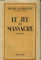 Le Jeu De Massaccre - Couverture - Format classique