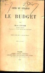 Cours De Finances Le Budget / 6e Edition Revue Et Mise Au Courant. - Couverture - Format classique
