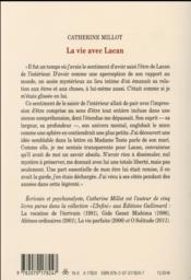 La vie avec Lacan - 4ème de couverture - Format classique