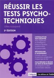 Réussir les tests psychotechniques (2e édition) - Couverture - Format classique