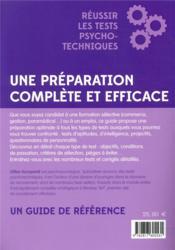Réussir les tests psychotechniques (2e édition) - 4ème de couverture - Format classique