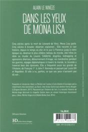 Dans les yeux de Mona Lisa - 4ème de couverture - Format classique