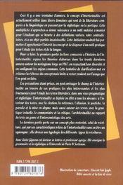 Initiation A L'Intertextualite - 4ème de couverture - Format classique