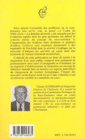 La Sous-Traitance A L'Aube Du Xxi Siecle - 4ème de couverture - Format classique