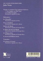 Voyages et aventures du capitaine hatteras 2 - 4ème de couverture - Format classique