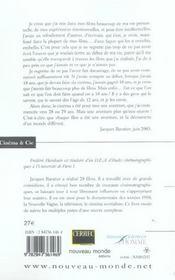 Jacques baratier, l'aventure cinema - 4ème de couverture - Format classique