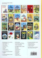 Les aventures de Tintin T.12 ; le trésor de Rackham le rouge - 4ème de couverture - Format classique