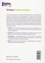 Développer l'entreprise numerique - 4ème de couverture - Format classique