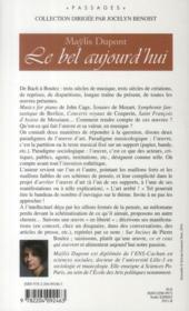 Le bel aujourd'hui ; Bach ou Boulez, des oeuvres à faire - 4ème de couverture - Format classique