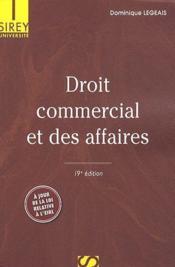 Droit commercial et des affaires (19e édition) - Couverture - Format classique