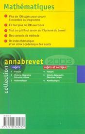 Annabrevet - 4ème de couverture - Format classique