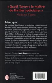 Identique - 4ème de couverture - Format classique