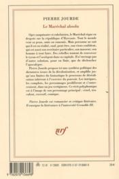 Le maréchal absolu - 4ème de couverture - Format classique
