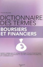 Dictionnaire des termes boursiers et financiers - Couverture - Format classique