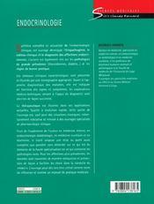 Endocrinologie - 4ème de couverture - Format classique