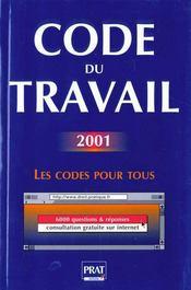 Code Du Travail 2001 - Intérieur - Format classique