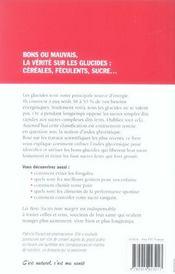Les Bons Sucres Pour Maigrir - 4ème de couverture - Format classique