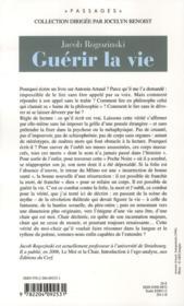 Guérir la vie ; la passion d'Antonin Artaud - 4ème de couverture - Format classique