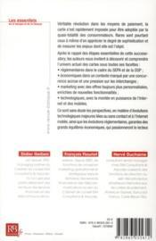 Cartes de paiement ; nouveaux enjeux et perspectives - 4ème de couverture - Format classique