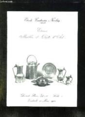 Catalogue De Ventes Aux Encheres D Etains Anciens, Meubles Et Objets D Arts, Tapis... Le Vendredi 13 Mars 1981 A L Hotel Drouot. - Couverture - Format classique