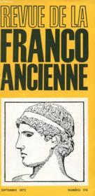 Revue De La Franco Ancienne N°176 - Couverture - Format classique