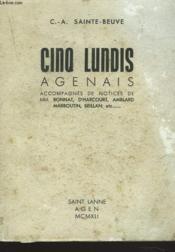 Cinq Lundis Agenais. Tome 1. - Couverture - Format classique