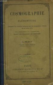 Cosmographie Elementaire - Couverture - Format classique