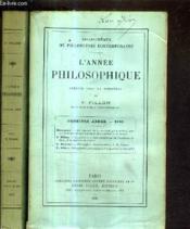 L'Annee Philosophique / Premiere Annee 1890 + Deuxieme Annee 1891. - Couverture - Format classique