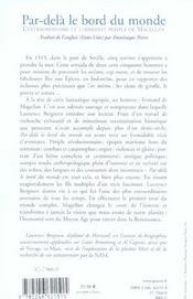 Par-Dela Le Bord Du Monde - 4ème de couverture - Format classique