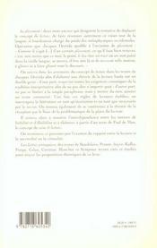 L Experience De La Lecture T 2 - 4ème de couverture - Format classique