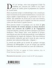 C.A.P.E.S./agrégation lettres ; la version latine ; méthodologie et sujets corrigés - 4ème de couverture - Format classique