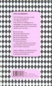 Le petit livre des brunes - 4ème de couverture - Format classique