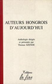 Auteurs Hongrois D'Aujourd'Hui - Couverture - Format classique