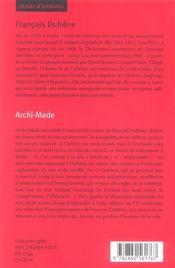 Archi-made (+cd) - 4ème de couverture - Format classique