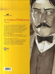 Agatha Christie t.15 ; le crime d'Halloween - 4ème de couverture - Format classique